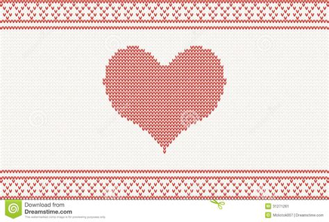 z pattern heart sounds knitted vector pattern with heart stock image image