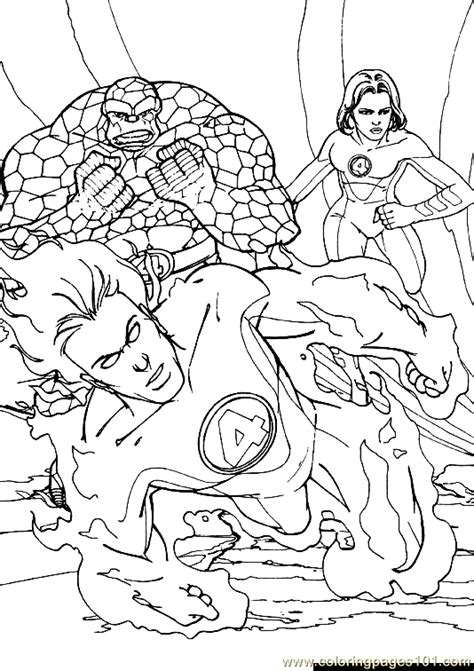 coloring pages fantastic four jpg 38 cartoons