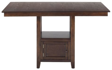 counter table with storage casual counter height rectangle table with storage