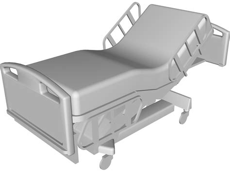 free hospital beds bed hospital incline 3d model 3d cad browser