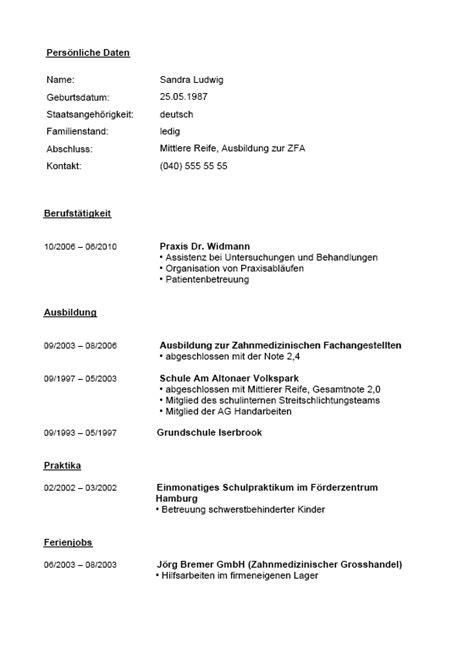 Lebenslauf Vorlage Zahnmedizinische Fachangestellte Bewerbungs Paket Fachangestellte F 252 R Zahnmedizin Muster Zum