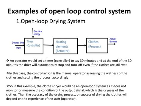 exle of open loop system with block diagram electronics presentation