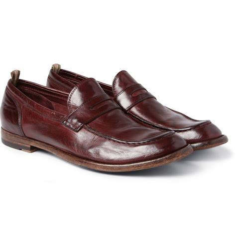 pennie loafers lyst officine creative anatomia highshine leather