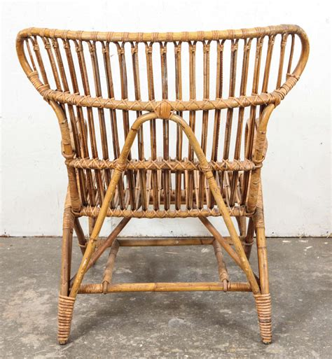 vintage european rattan wingback chair at 1stdibs