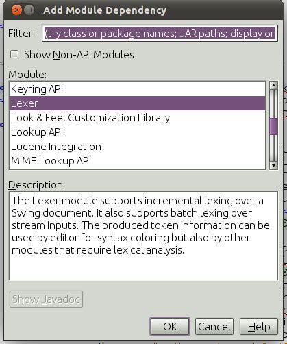 netbeans api tutorial netbeans javacc lexer generator integration tutorial for