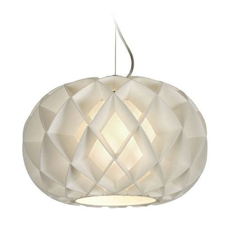 Paper Pendant Lights Modern Pendant Light With White Paper Shade In Brushed Nickel Finish