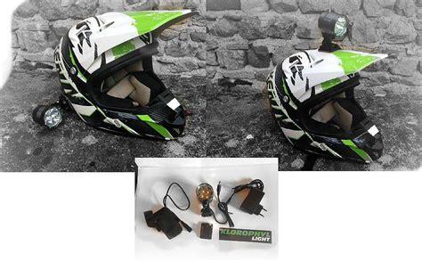 eclairage led moto enduro le pour casque moto vtt enduro klorophyl unifire led
