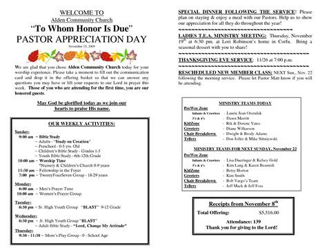 free pastor anniversary program templates best photos of exles of pastor appreciation programs