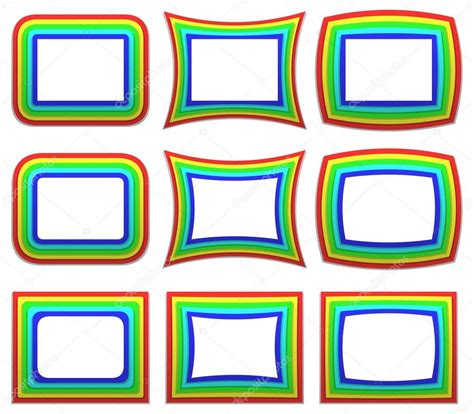 cornice vettoriale cornice arcobaleno vettoriali stock 169 davidzydd 53909905