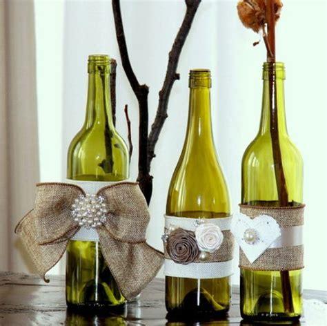 pretty decorated wine bottles wedding stuff pinterest