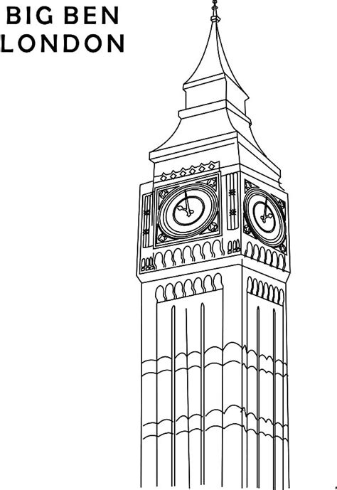 Free Big Ben In London Coloring Pages