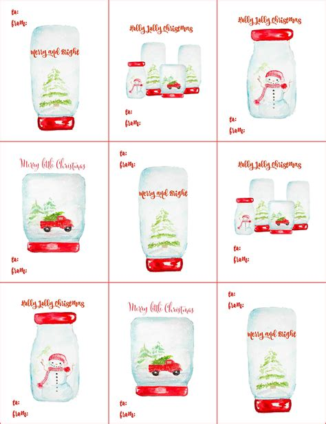 free printable gift tags from organized christmas com free christmas gift tag printables