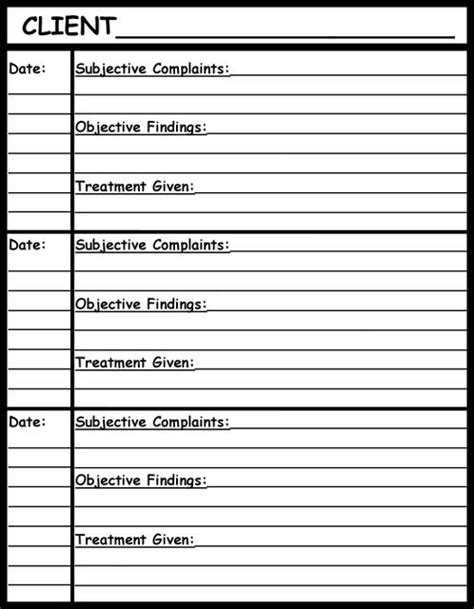 chart note template for therapy soap note templates pictures