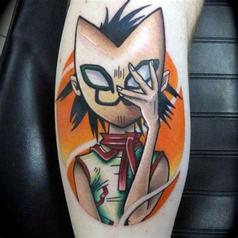 noodle tattoo 50 gorillaz designs for band ink ideas