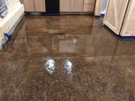 concrete floor stain colors acid staining our concrete floors an expensive look at