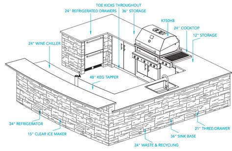 plans design outdoor kitchen plans kalamazoo outdoor gourmet