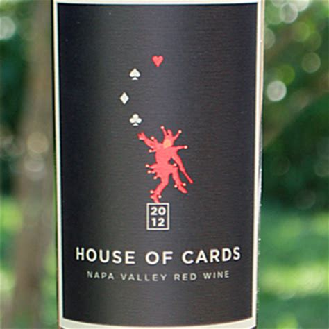Napa Gift Card - house of cards 2012 napa valley red wine the wine spies