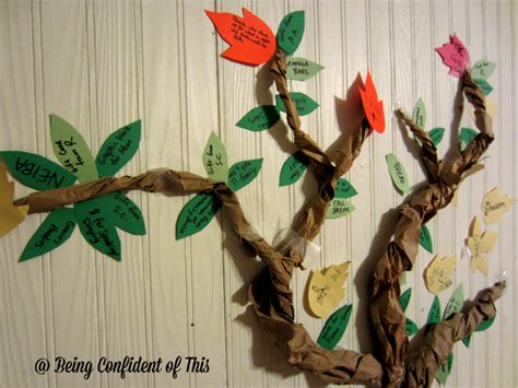 the giving thanks tree fun holiday activities for kids the family thanksgiving tree being confident of this