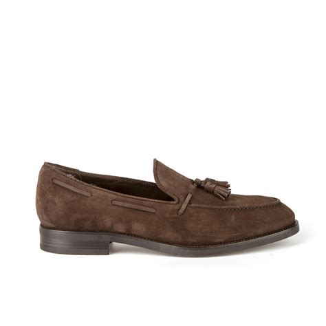 brown loafers tod s tods brown suede loafers for lyst