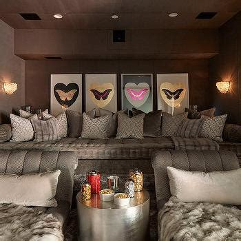khloe kardashian couch pillows wine room and movie room contemporary basement