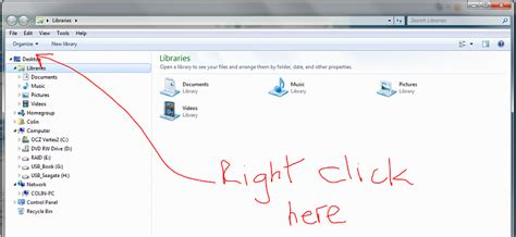 windows 7 top bar missing desktop missing from windows explorer windows 7 help forums