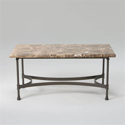 biscayne coffee table with marble top traditional