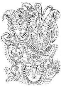 anti stress coloring book ausmalen erwachsene karneval faschingsmasken 1