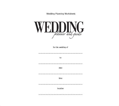 wedding itinerary templates   psd
