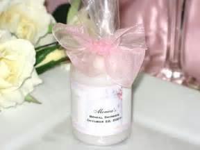 Wedding shower party favors on bridal shower candle votive favors