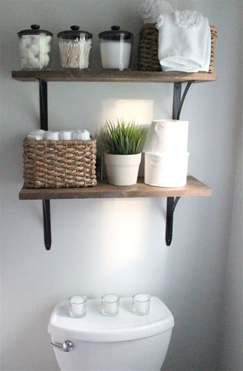 Bathroom Shelves Decorating Ideas 25 Best Ideas About Bathroom Shelves On Half Bath Decor Diy Bathroom Decor And