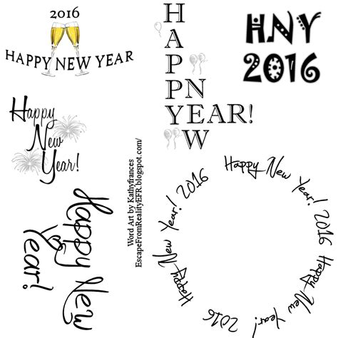 Happy New Year Word Escape From Reality Happy New Year Word 2016