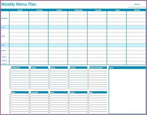 menu planning template word meal plan template word designproposalexle