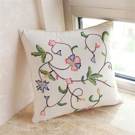 white linen embroidery tree pattern cushion cover buy
