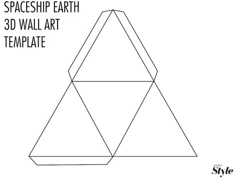 How To Make A 3d Triangle Out Of Paper - diy spaceship earth 3d wall living