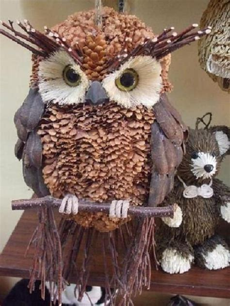 owl creations from pine cones and fluff owl decor winter wreath fall owl wreath wreath front door decor rustic