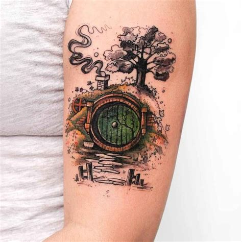 hobbit tattoo house of hobbit on arm best ideas gallery