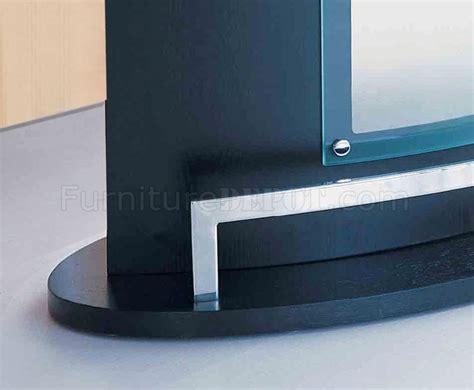 modern glass bar table black modern bar table w glass top chromed metal accent