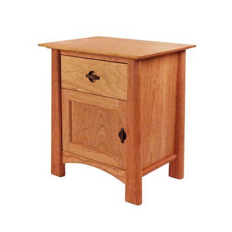 Nightstand With Door And Drawer Cherry Moon 1 Drawer Stand With Door Bedroom Solid