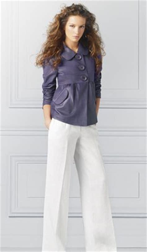 sedere largo pantaloni larghi bianchi naf naf forma di pantaloni per