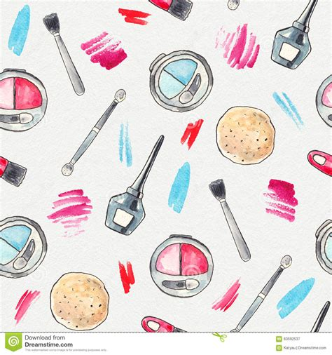 Make Watercolor Paper - watercolor make up background stock illustration image