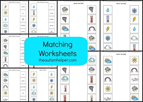Autism Worksheets by Weather Mega Pack The Autism Helper