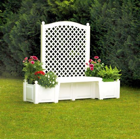 White Trellis Planter by Germany Khw Germany Made Garden With A Trellis Garden