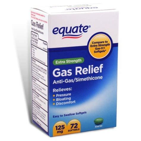 gas relief equate gas relief strength simethicone 125 mg 72 softgels compare to gas