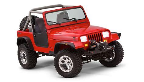 jeep wrangler bushwacker flat fender flares bushwacker flat style fender flares for 87 95 jeep