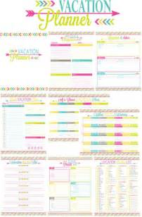 Printable vacation planner colors schemes binder giveaways printable