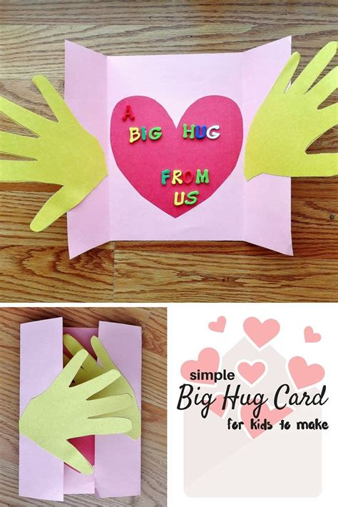 cards crafts for a big hug card craft for big hugs grandparents and hug