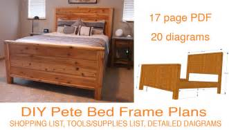 Diy bed frame plans how to make a bed frame with diy pete
