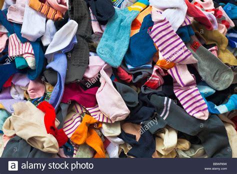 Pile Socks piles of socks at a market darjeeling india stock