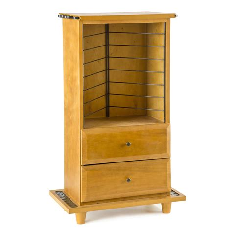 fishing rod storage cabinet organized fishing open top cabinet with 2 drawers 652718