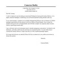leading professional paralegal cover letter exles